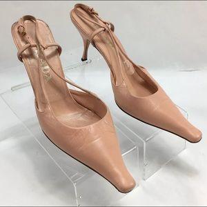 Prada Women's Shoes Pointed-Toe Slingback Pumps